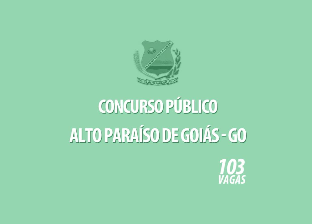 Concurso Prefeitura Alto Paraíso de Goiás - GO Edital 001/2020