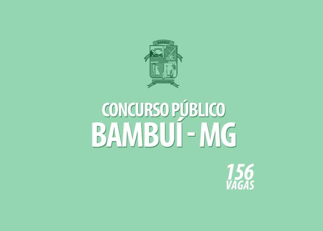 Concurso Prefeitura Bambuí - MG Edital 001/2020