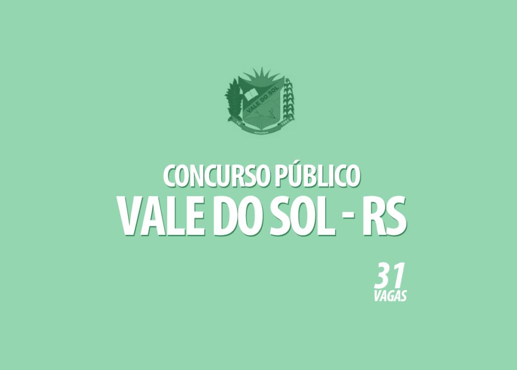 Concurso Prefeitura Vale do Sol - RS Edital 001/2020
