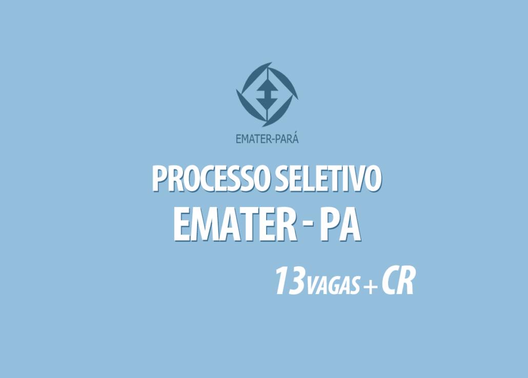 Processo Seletivo Emater-PA Edital 001/2020