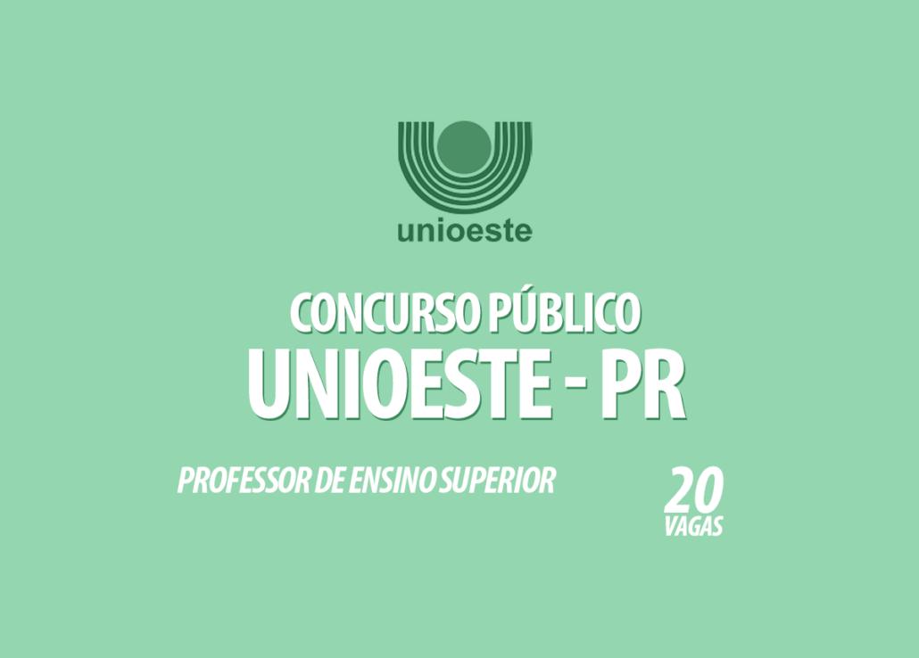 Concurso Público Unioeste - PR Edital 039/2020
