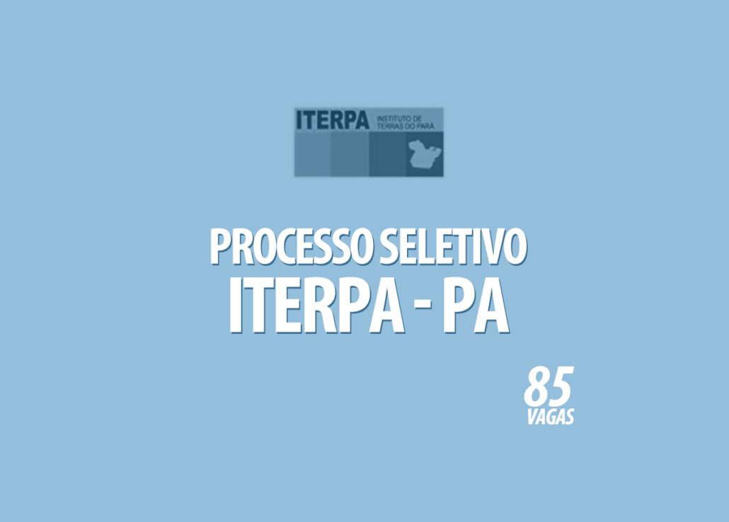 Processo Seletivo Iterpa - PA Edital 002/2020
