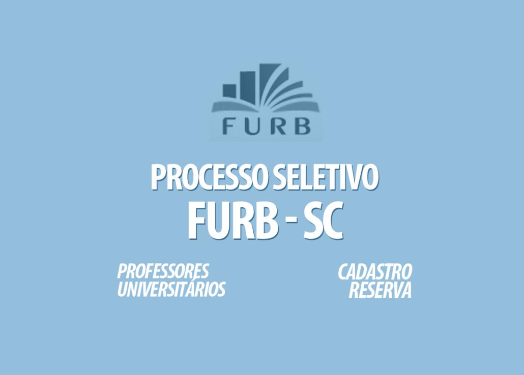 Processos Seletivos FURB - SC Edital 028/2020