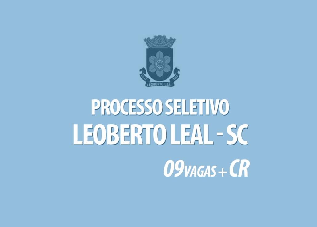 Processo Seletivo Leoberto Leal - SC Edital 001/2020