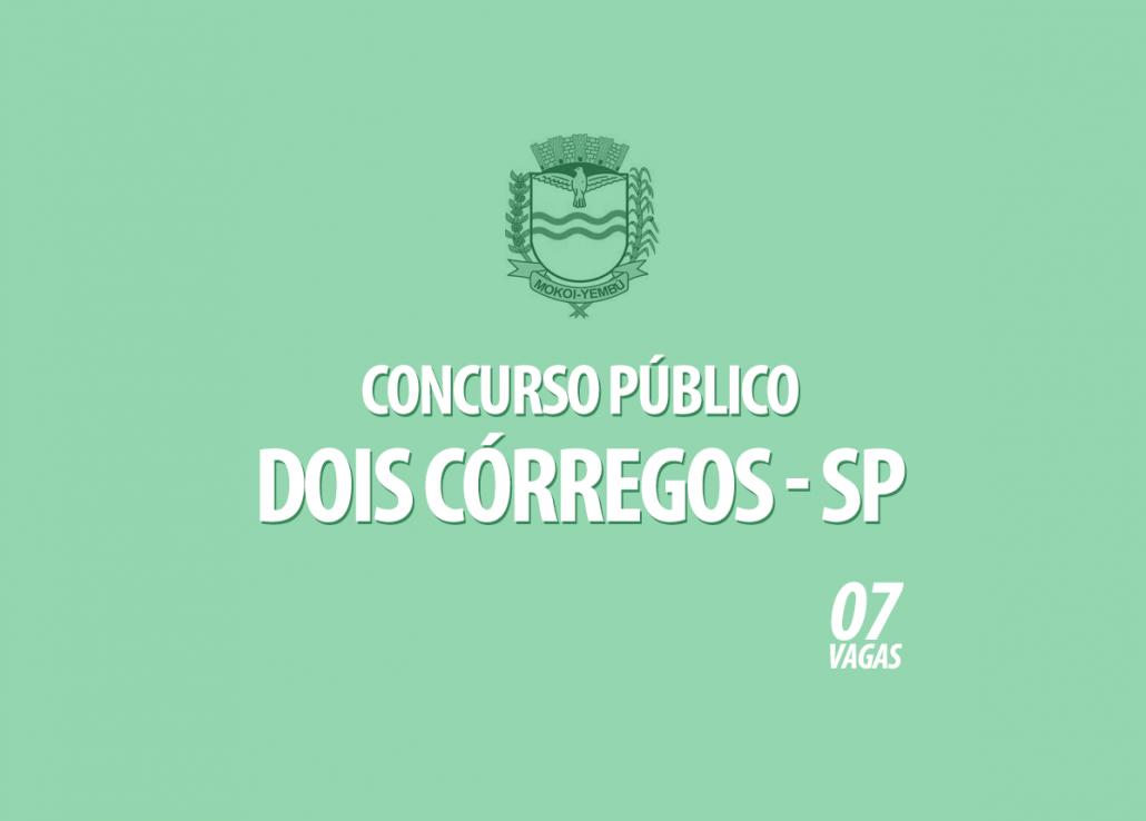 Concurso Prefeitura Dois Córregos - SP Edital 001/2021