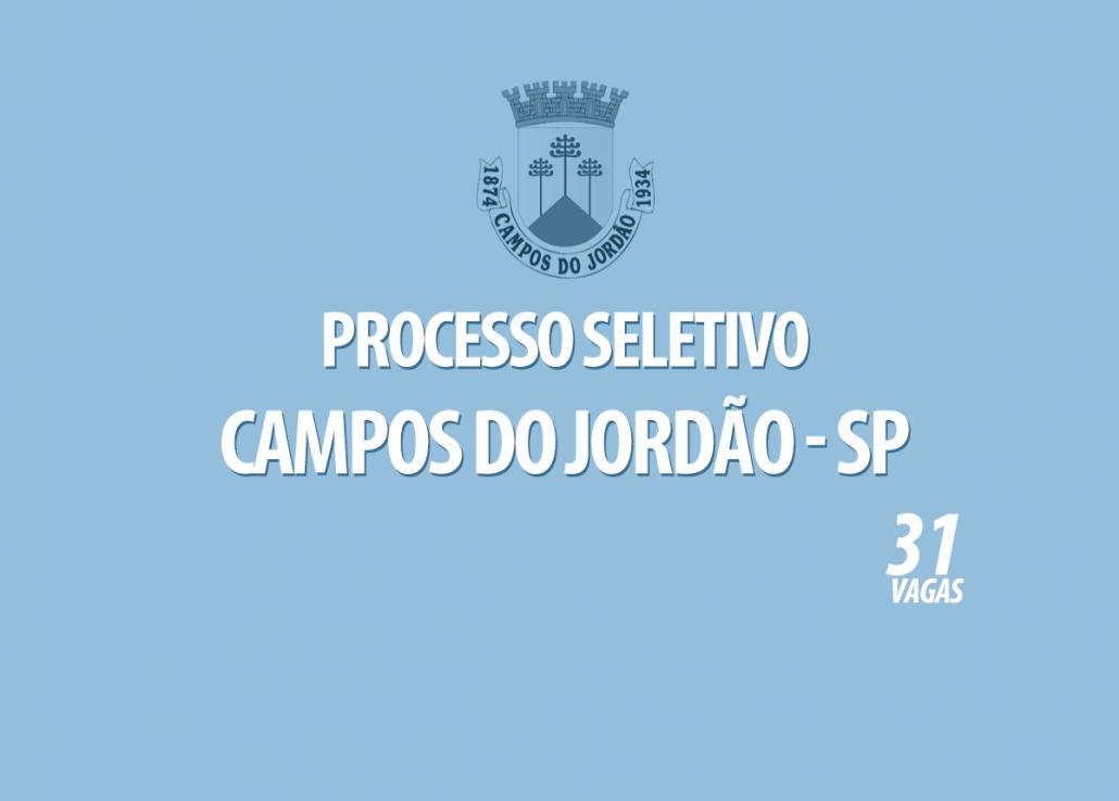 Processo Seletivo Campos do Jordão - SP Edital 001/2021