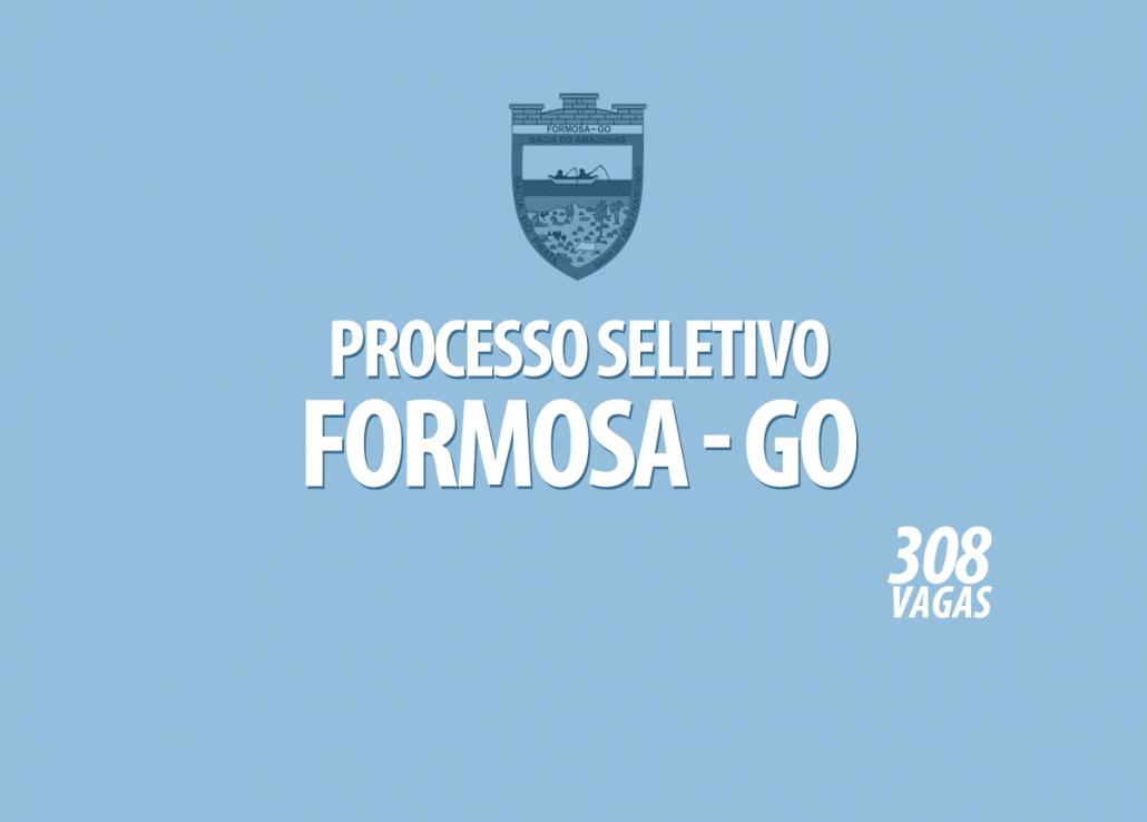 Processo Seletivo Formosa - GO Edital 001/2021
