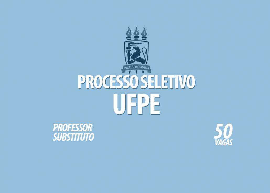 Processo Seletivo UFPE Edital 032/2021